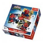 Trefl-34822 3 Jigsaw Puzzles - Spider-Man