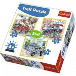 Trefl-34836 3 Puzzles - Emergency Vehicles