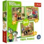 Trefl-34838 3 Puzzles - Treflikow
