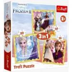 Trefl-34847 3 Jigsaw Puzzles - Frozen 2