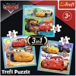 Trefl-34848 3 Puzzles - Cars