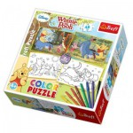 Trefl-36501 Puzzles 2 + 8 Markers - Winnie the Pooh