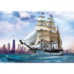 Trefl-37120 Jigsaw Puzzle - 500 Pieces - Sailing near Chicago