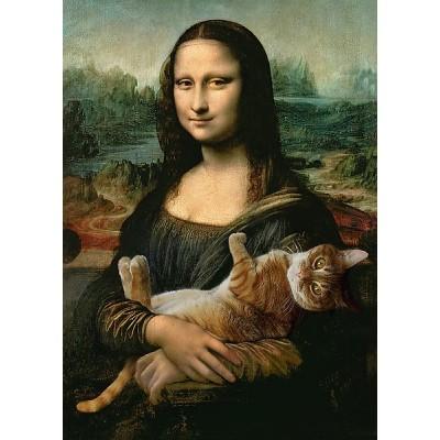 Puzzle Trefl-37294 Mona Lisa and Purring Kitty