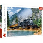 Puzzle  Trefl-37379 Mountain Train