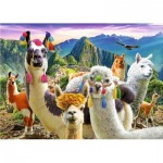 Puzzle  Trefl-37383 Lamas in the Mountains