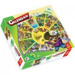 Trefl-39050 Jigsaw Puzzle - Round - 24 Pieces - Calendar