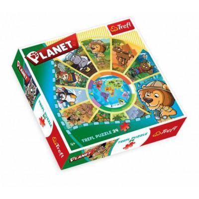 Trefl-39055 Jigsaw Puzzle - 24 Pieces - Round : Planet