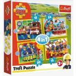 Puzzle   4 in 1 - Helpful Fireman Sam