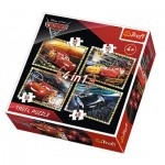 4 Jigsaw Puzzles - Cars 3
