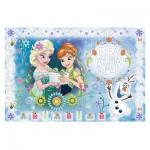 Trefl-75111 Frozen - Puzzle + Magic Marker