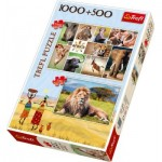 2 Puzzles - Africa 1000 and 500 piece jigsaw puzzle