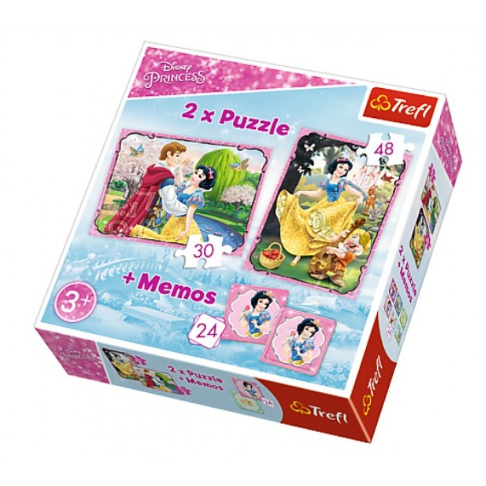 2 Puzzles + Memo - Disney Princess