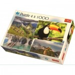 Trefl-90676 4 Puzzles - South America