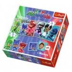 Trefl-90710 2 Puzzles + Memo - PJMasks