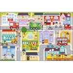 Trefl-90754 Floor Puzzle - In the Small Town