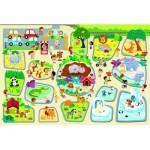 Trefl-90756 Floor Puzzle - Zoo