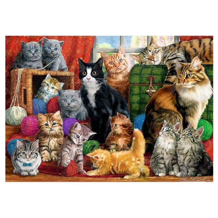 Cats Meeting Puzzle 1000 pieces