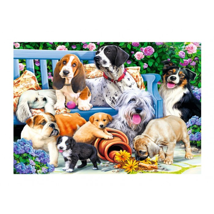 Dogs in the Garden Puzzle 1000 pieces
