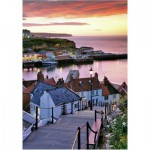 Wentworth-501305 Wooden Jigsaw Puzzle - Joe Cornish: Whitby Harbour, Summer Twilight