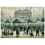 Wentworth-560604 Wooden Puzzle - Market Scene, Northern Town, 1939