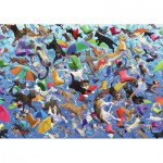 Wentworth-582713 Wooden Jigsaw Puzzle - Royce B McClure : Raining Cats and Dogs