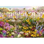 Wentworth-661706 Wooden Jigsaw Puzzle - Greg Giordano : Bird Bath Bonanza