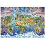 Wentworth-702513 Wooden Puzzle - World Wonders