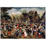 Wentworth-760904 Wooden Puzzle - Brueghel - The Village Festival