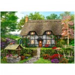 Wentworth-801902 Wooden Puzzle - Meadow Cottage
