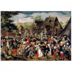 Wooden Puzzle - Brueghel - The Village Festival
