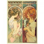 Wooden Puzzle - Mucha Alfons - Feather & Cowslip