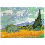 Wooden Puzzle - Van Gogh - Wheat Field with Cypresses