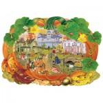 Wooden Puzzle - Victoriana Pumpkin