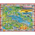 White-Mountain-039 Jigsaw Puzzle - 1000 Pieces - Lakes Region, New York, USA