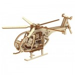 3D Wooden Jigsaw Puzzle - Helicopter