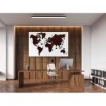 Wooden-City-WM504/2-8244 Wooden Puzzle - World Map XL (Dark Oak)