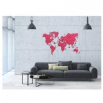 Wooden-City-WM506/2-8268 Wooden Puzzle - World Map XXL (Coral)