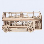 Wooden-City-WR303-8022 Wooden 3D Puzzle - London Bus