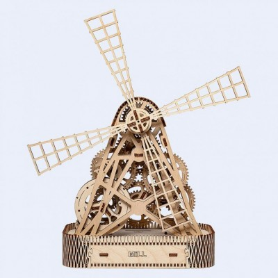 Wooden-City-WR307-8060 Wooden 3D Puzzle - Mill