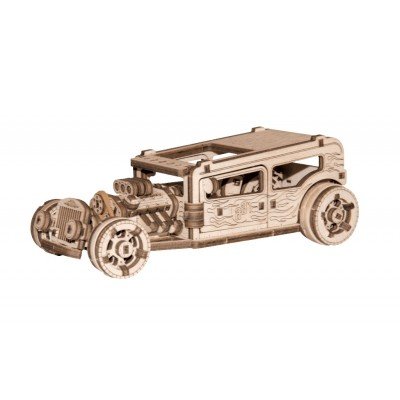 Wooden-City-WR339-8701 3D Wooden Jigsaw Puzzle - Hot Rod