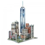 Wrebbit-3D-2012 3D Jigsaw Puzzle - New York Collection: World Trade