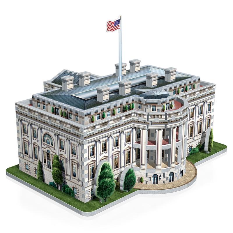 3d jigsaw puzzle the white house wrebbit 3d 1007 490 pieces jigsaw puzzles monuments. Black Bedroom Furniture Sets. Home Design Ideas