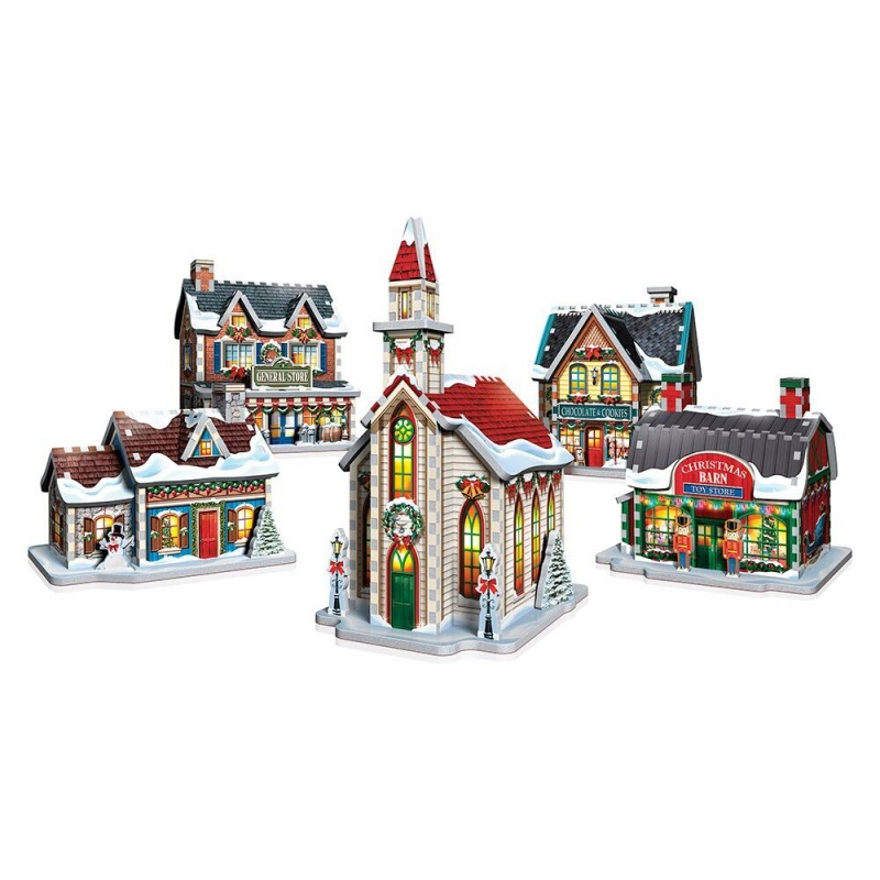 How To Store Christmas Village Houses.3d Puzzle Christmas Village