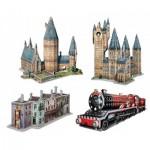 Wrebbit-3D-Set-Harry-Potter 4 3D Jigsaw Puzzles - Harry Potter Set