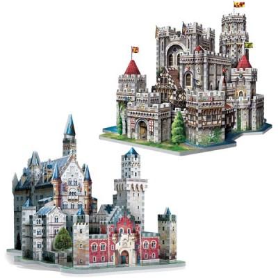 Wrebbit-Set-Castles 2 x 3D Puzzles - Set Castles