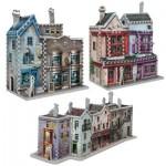 Wrebbit-Set-Harry-Potter-5 3 x 3D Puzzles - Set Harry Potter